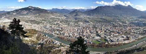 Panorama of Trento, Trentino-Alto Adige region, Italy