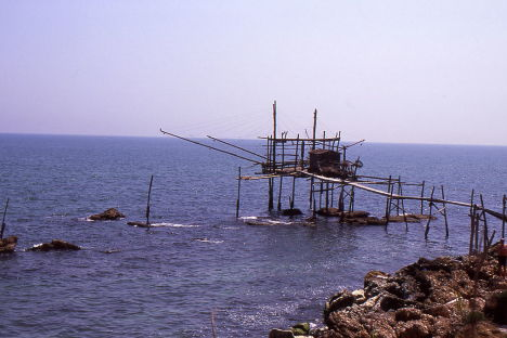 An ancient Trabocco, Italy
