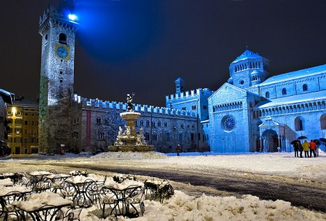 Piazza Duomo in winter, Trento, Trentino-Alto Adige region, Italy