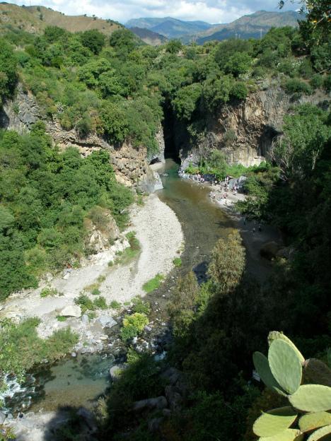 Alcantara River, Sicily, Italy