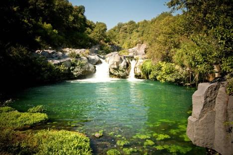 Alcàntara River in Sicily, Italy