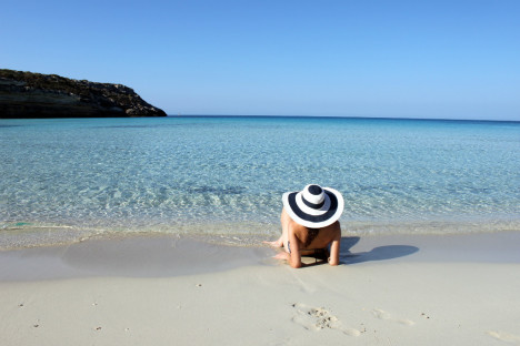 Amazing beach in Lampedusa, Sicily, Italy
