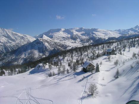 Cesana ski resort, Italy