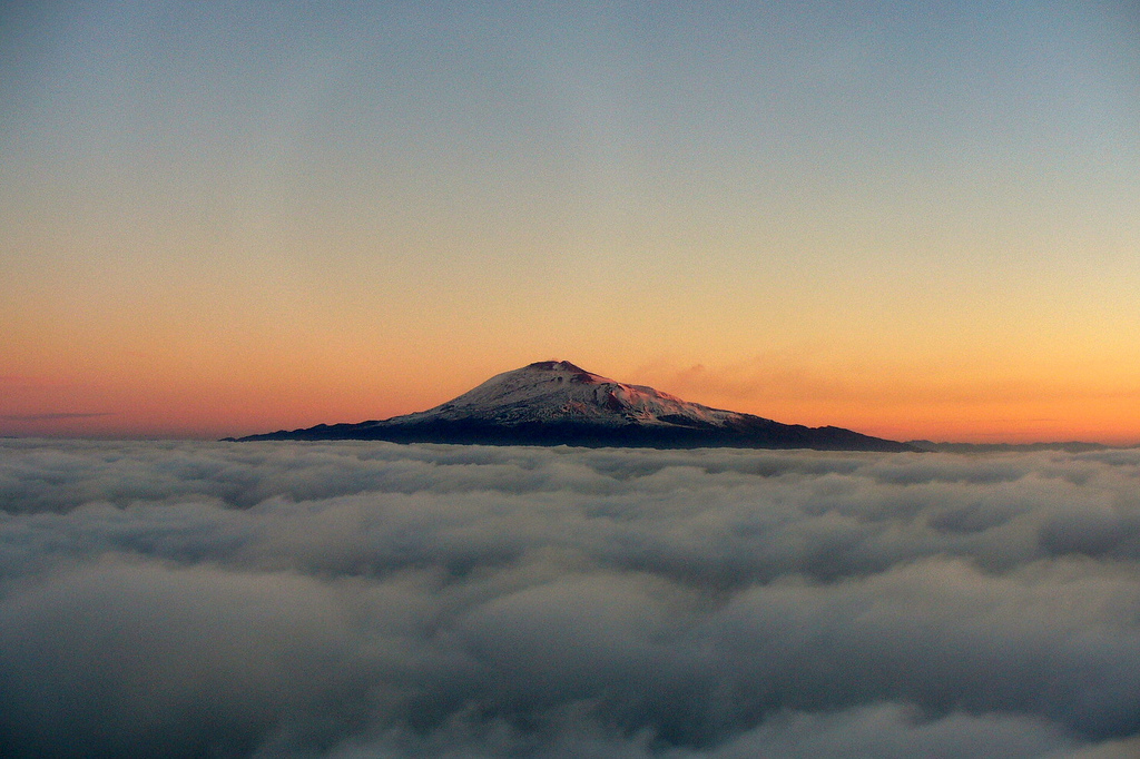 Etna above the clouds, Sicily, Italy