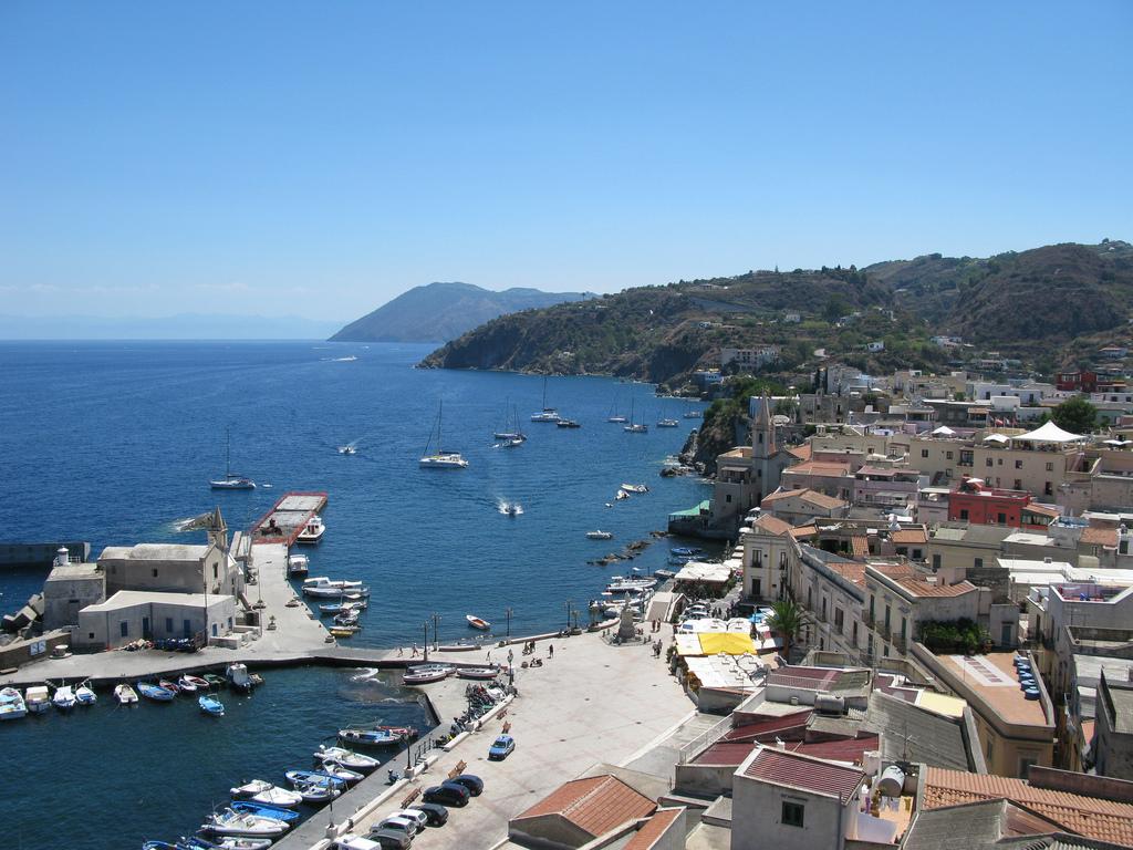 Lipari coastline, Aeolian Islands, Sicily, Italy