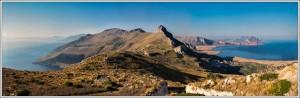 View of Lo Zingaro Nature Reserve from Monte Monaco, Sicily, Italy