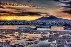 Naples and Vesuvio, Campania, Italy