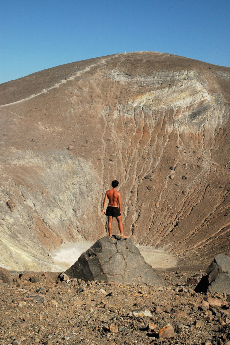On the crater, Vulcano, Aeolian Islands, Sicily, Italy