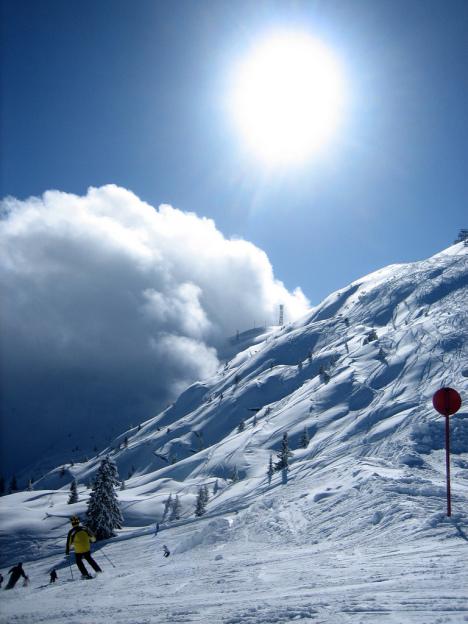 Skiing in Paganella, Italian Alps, Trentino, Italy