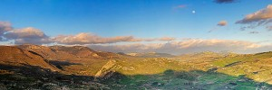 Panorama of Monti Sicani, Sicily, Italy
