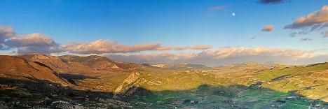 Panorama of Monti Sicani, Sicily, Italy
