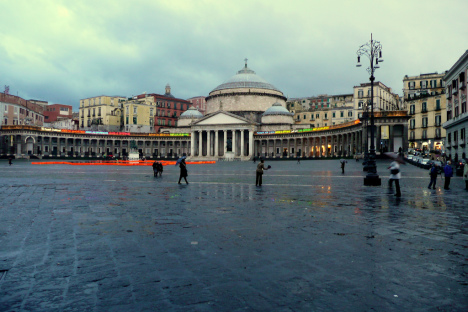 Piazza del Plebiscito, Naples, Campania, Italy