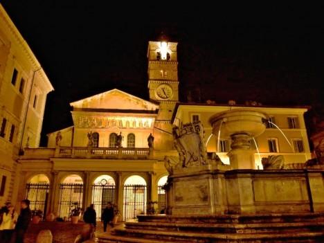 Piazza di Santa Maria, Trastevere, Rome, Lazio, Italy
