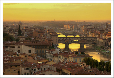 Ponte Vecchio and Florence, Tuscany, Italy