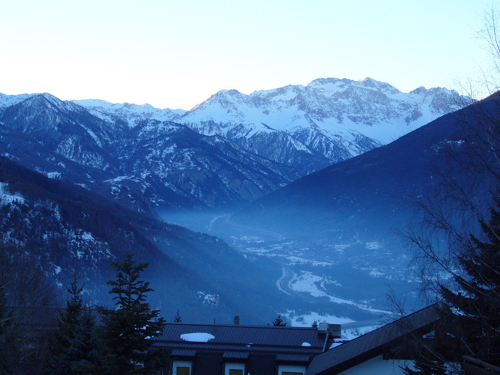 Sauze d'Oulx ski resort, Italy