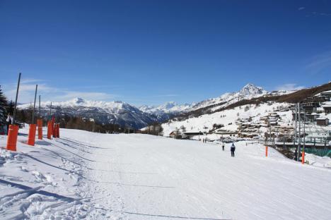 Sestriere ski resort, Italy