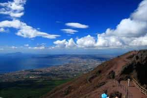 A view from Mount Vesuvius, Campania, Italy