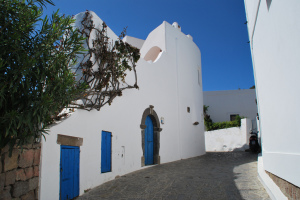 Typical houses on Panarea, Aeolian Islands, Sicily, Italy