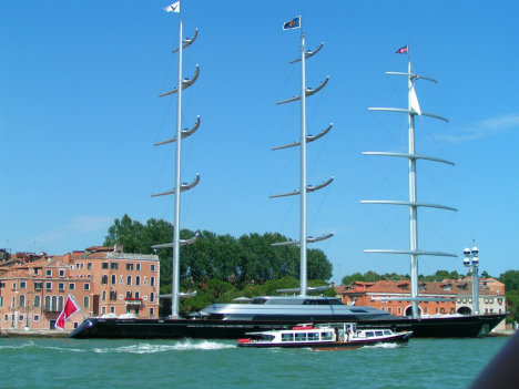 Huge yacht in Venice, Veneto, Italy