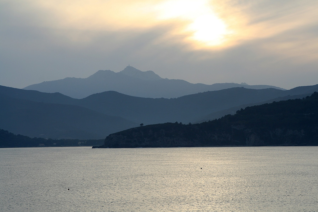 Mount Capanne on the island of Elba, Tuscan Archipelago, Italy