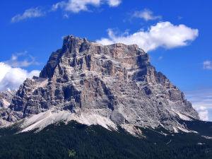 Pelmo mountain, as seen from Palafavera, Veneto, Italy