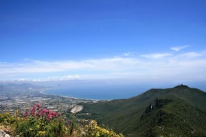 View from Monte Circeo, Lazio, Italy