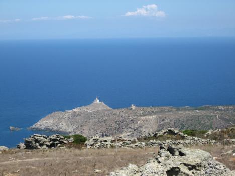 Lighthouse on Asinara island, Sardinia, Italy