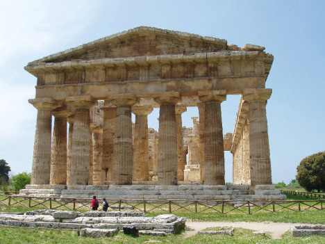 Temple of Poseidon in Paestum, Campania, Italy