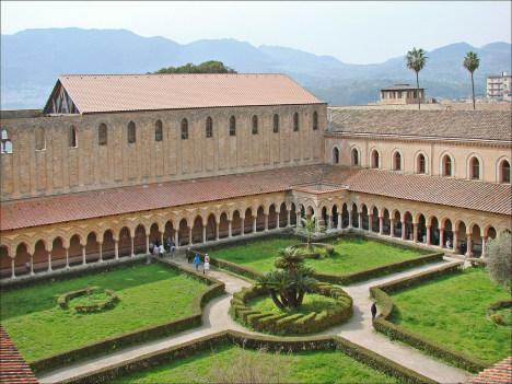Court of Monreale Monastery, Sicily, Italy
