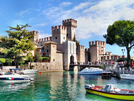 Sirmione Castle, Lake Garda, Lombardy, Italy