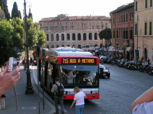 Bus in Rome, Italy