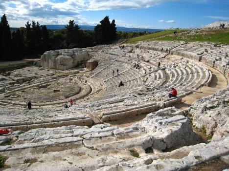 Teatro Greco, Syracuse, Sicily, Italy