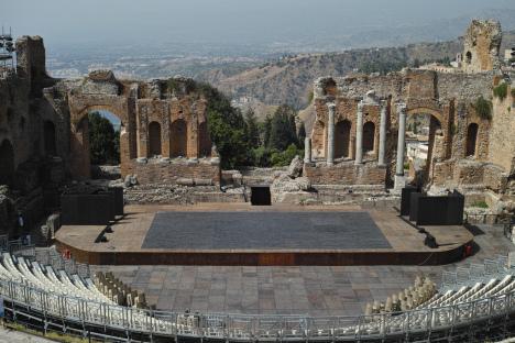 Teatro Greco, Taormina, Sicily, Italy