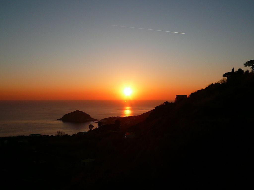Sunset as seen from, Barano, Ischia, Campania, Italy
