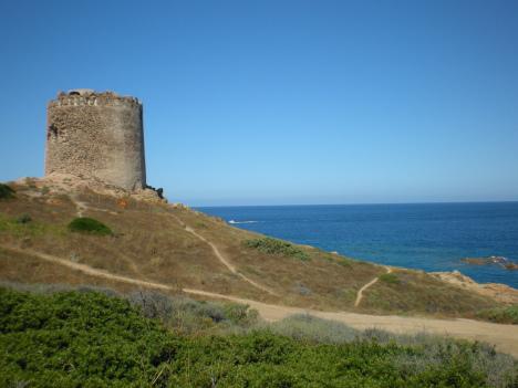Aragonian tower, Isola Rossa, Sardinia, Italy