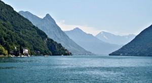 Lake Lugano, Lombardy, Italy