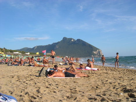 Sabaudia beach and Circeo promontory, Lazio, Italy
