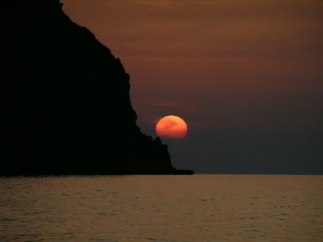 Sunset in Sicily, Italy