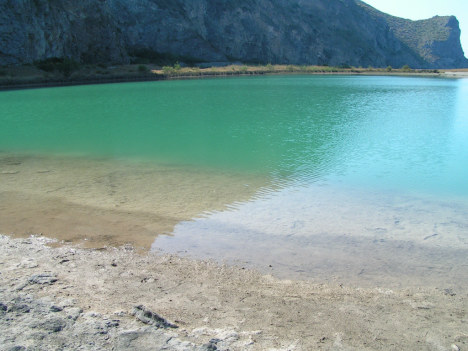 Turquoise lagoons in Oliveri, Messina, Sicily, Italy