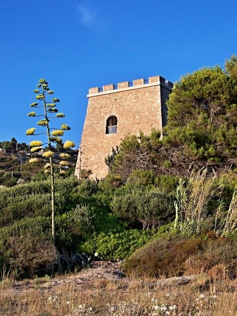 The coastal tower of Caprioli, Campania, Italy