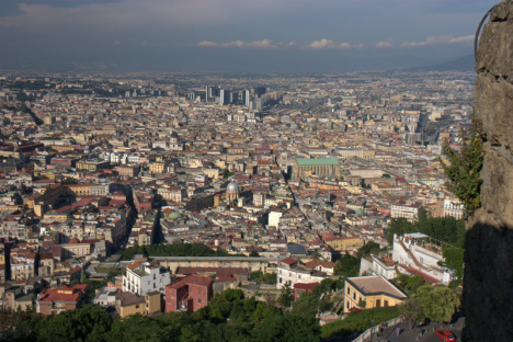 View of Naples from St Elmo