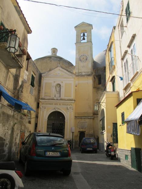 Abbazia di San Michele Arcangelo. Procida island, Campania, Italy