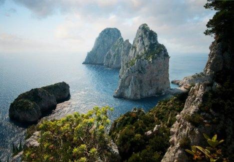 Another view of Faraglioni of Capri, Campania, Italy