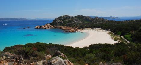 Rosa beach, Budelli island, Sardinia, Italy