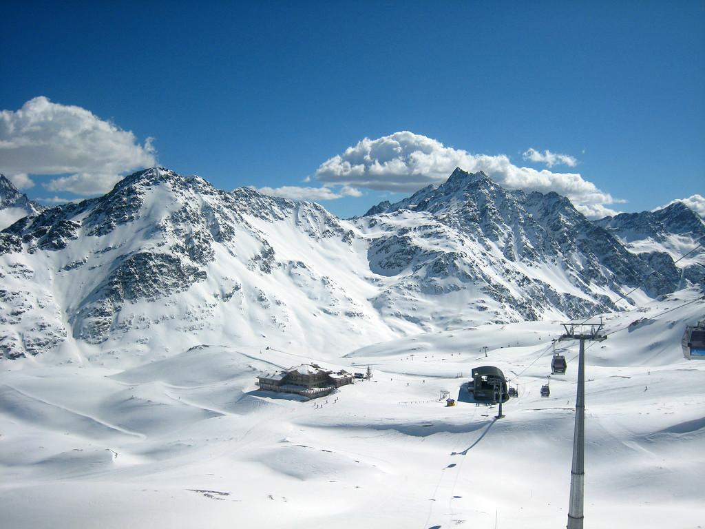 Santa Caterina Valfurva ski resort, Lombardy, Italy