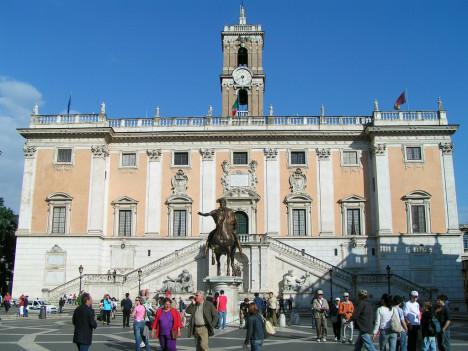 Piazza del Campidoglio, Rome, Lazio, Italy
