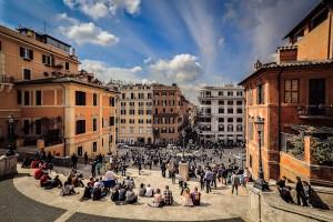 Steps of Piazza di Spagna, Rome, Lazio, Italy