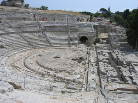 Syracuse theatre, Sicily, Italy
