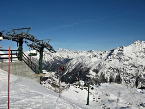 La Thuile ski resort, Aosta Valley, Italy