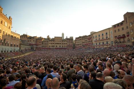 Palio di Siena, Piazza del Campo, Tuscany, Italy